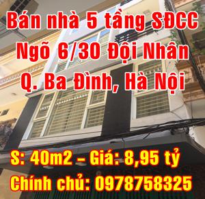 Chính chủ cần bán nhà Quận Ba Đình, số 3 ngõ 6/30 Đội Nhân