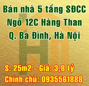 Cần bán nhà ngõ 12C Hàng Than, Phường Nguyễn Trung Trực, Quận Ba Đình, Hà Nội