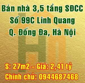 Cần bán nhà Quận Đống Đa, số 99C Linh Quang, Phường Văn Chương