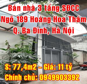 Bán nhà Quận Ba Đình, Số 22 ngách 61 ngõ 189 Hoàng Hoa Thám
