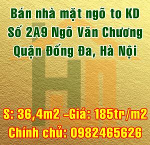 Bán nhà Quận Đống Đa, ngõ to kinh doanh, ngay hồ Linh Quang trong ngõ Văn Chương