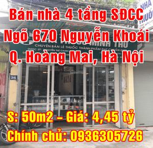 Bán nhà Quận Hoàng Mai, Số 36 ngõ 670 đường Nguyễn Khoái