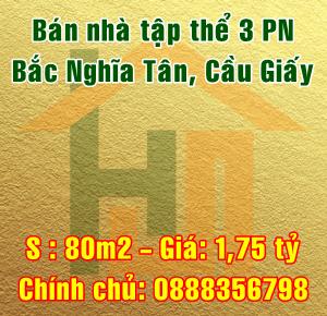 Bán nhà khu tập thể Bắc Nghĩa Tân, ngõ 120 Hoàng Quốc Việt, Quận Cầu Giấy