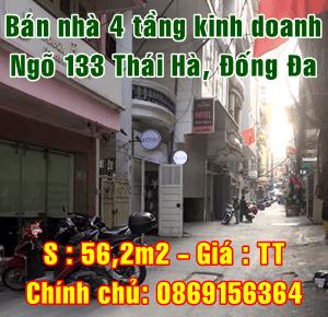 Bán nhà 4 tầng ngõ 133 Thái Hà, Quận Đống Đa, Hà Nội