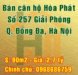 Bán căn hộ tòa chung cư Hòa Phát 257 Giải Phóng, Quận Đống Đa, Hà Nội