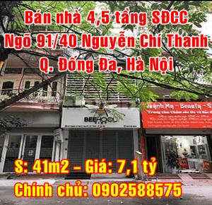 Bán nhà Quận Đống Đa, Số 3 ngõ 91/40 Phố Nguyễn Chí Thanh, Phường Láng Hạ