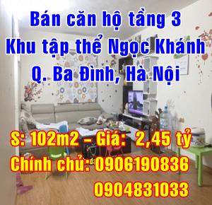 Cần bán căn hộ tầng 3 khu tập thể Ngọc Khánh, Quận Ba Đình, Hà Nội