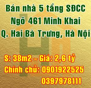 Bán nhà Quận Hai Bà Trưng, số 65A ngõ 461 đường Minh Khai, Phường Vĩnh Tuy
