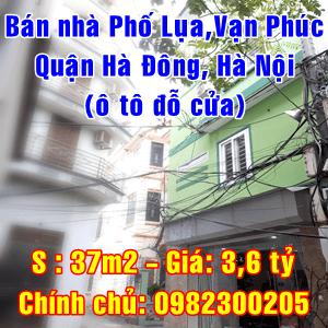 Bán nhà Phố Lụa, Vạn Phúc, Quận Hà Đông, Hà Nội (ô tô tải đỗ cửa)