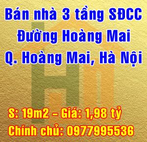 Bán nhà đường Hoàng Mai, Phường Hoàng Văn Thụ, Quận Hoàng Mai, Hà Nội