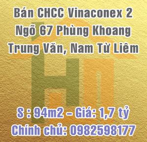Bán căn hộ Vinaconex 2, ngõ 67 Phùng Khoang, Trung Văn, Nam Từ Liêm