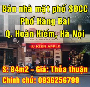 Chính chủ bán nhà mặt phố Hàng Bài, Phường Tràng Tiền, Quận Hoàn Kiếm, Hà Nội