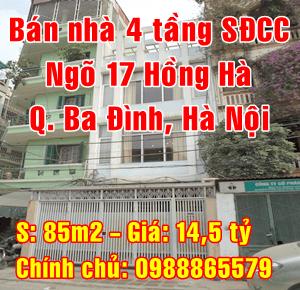 Chính chủ bán nhà Quận Ba Đình, số 2 ngõ 17 Phố Hồng Hà
