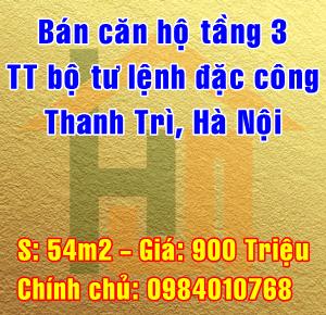 Bán căn hộ tầng 3 tập thể Bộ Tư Lệnh Đặc Công Vĩnh Quỳnh, Thanh Trì, Hà Nội