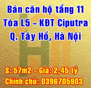 Bán căn hộ tầng 11 khu đô thị Ciputra, đường Lạc Long Quân, Quận Tây Hồ