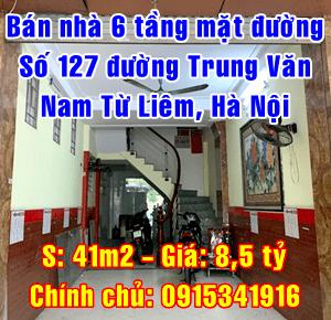 Bán nhà mặt đường số 127 Trung Văn, Phùng Khoang, Quận Nam Từ Liêm