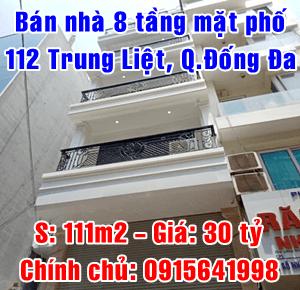 Bán nhà chính chủ mặt phố Trung Liệt, Quận Đống Đa