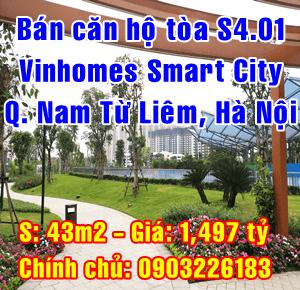 Bán căn hộ tòa S4.01 Vinhomes Smart City Đại Lộ Thăng Long, Quận Nam Từ Liêm