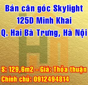 Bán căn góc chung cư Skylight 125D Minh Khai, Quận Hai Bà Trưng, Hà Nội