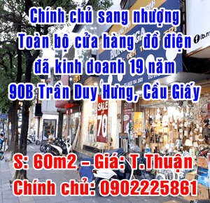 Sang nhượng toàn bộ cửa hàng đồ điện, 90B Trần Duy Hưng, Cầu Giấy