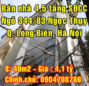 Bán nhà số 9 ngõ 344/83 Ngọc Thụy, Quận Long Biên, Hà Nội