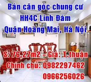 Chính chủ bán căn góc P.3402 - HH4C Linh Đàm, Quận Hoàng Mai, Hà Nội