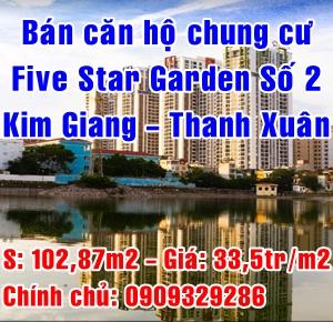 Bán căn hộ chung cư Five Star Garden Số 2 Kim Giang, Quận Thanh Xuân, Hà Nội