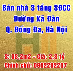 Bán nhà đường Xã Đàn, Phường Thổ Quan, Quận Đống Đa, Hà Nội