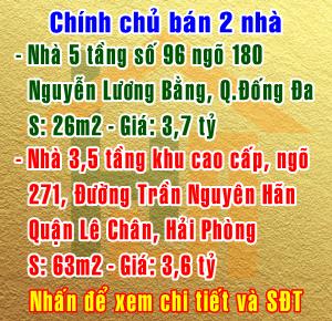 Chính chủ bán nhà số 96 ngõ 180 Nguyễn Lương Bằng, Quận Đống Đa