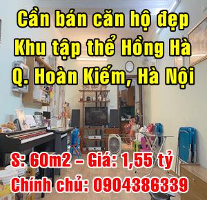 Chính chủ bán nhà tập thể Hồng Hà, Quận Hoàn Kiếm, Hà Nội