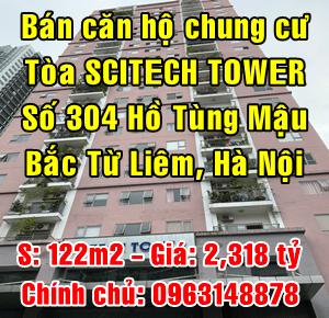 Bán căn hộ tòa Scitech Tower số 304 Hồ Tùng Mậu, Bắc Từ Liêm