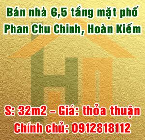 Chính chủ bán nhà mặt phố Phan Chu Chinh, Quận Hoàn Kiếm