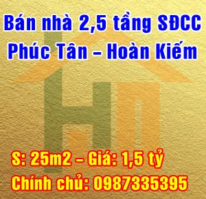 Chính chủ bán nhà phố Phúc Tân, Phường Phúc Tân, Quận Hoàn Kiếm