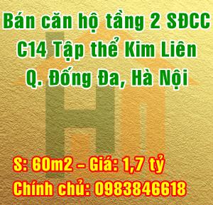 Chính chủ bán căn hộ tầng 2 khu C14 tập thể Kim Liên, Đống Đa, Hà Nội