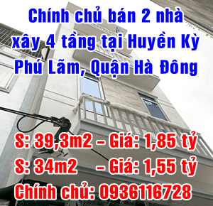 Chính chủ bán 2 nhà tại Huyền Kỳ, Phú Lãm, Quận Hà Đông
