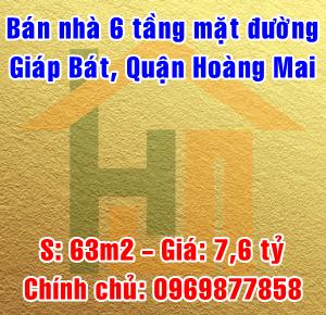 Chính chủ bán nhà mặt đường Giáp Bát, Quận Hoàng Mai, Hà Nội