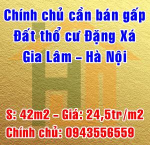 Bán gấp cắt lỗ về quê 42m2 Đặng Xá, Gia Lâm, Hà Nội