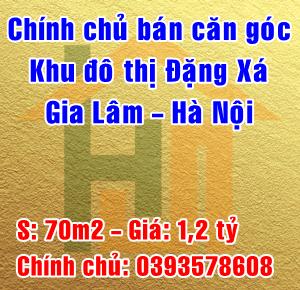 Chính chủ bán căn góc tại khu đô thị Đặng Xá, Gia Lâm, Hà Nội
