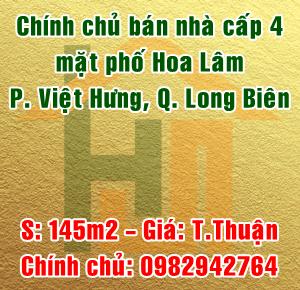 Bán nhà cấp 4 phố Hoa Lâm, phường Việt Hưng, quận Long Biên, Hà Nội