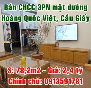 Chính chủ bán chung cư mặt đường 118 Hoàng Quốc Việt, Cầu Giấy