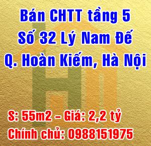 Bán căn hộ tập thể tầng 5 số 32 Lý Nam Đế, Quận Hoàn Kiếm, Hà Nội