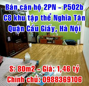 Bán nhà tập thể P502b, khu tập thể quân đội C8 Nghĩa Tân, quận Cầu Giấy