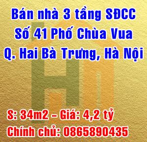 Bán nhà mặt phố số 41 Chùa Vua, Phường Phố Huế, Quận Hai Bà Trưng
