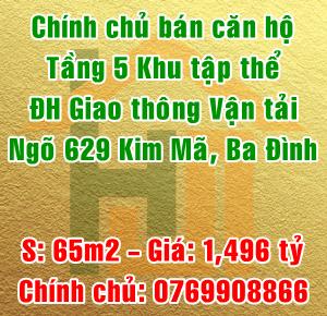 Bán nhà tập thể Đại học Giao thông Vận Tải, Phường Ngọc Khánh, Quận Ba Đình