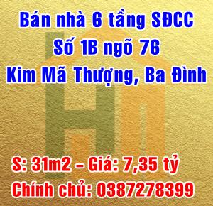 Bán nhà Quận Ba Đình, Số 1B ngõ 76 Kim Mã Thượng