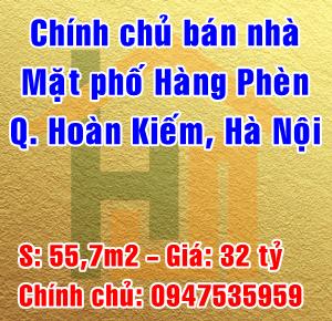 Bán nhà mặt phố Hàng Phèn, Phường Hàng Bồ, Quận Hoàn Kiếm, Hà Nội