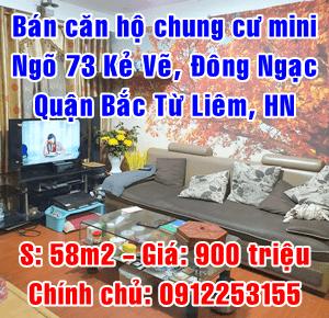 Chính chủ bán chung cư mini ngõ 73 Kẻ Vẽ, Đông Ngạc, Bắc Từ Liêm