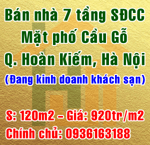 Chính chủ cần bán nhà mặt phố Cầu Gỗ, Phường Hàng Bạc, Quận Hoàn Kiếm