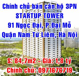 Chính chủ bán căn hộ Startup Tower 91 Ngọc Đại, phường Đại Mỗ, Nam Từ Liêm