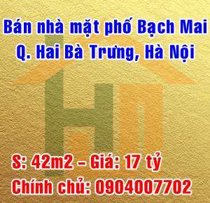 Bán nhà mặt phố số 18A Bạch Mai, Phường Cầu Dền, Quận Hai Bà Trưng